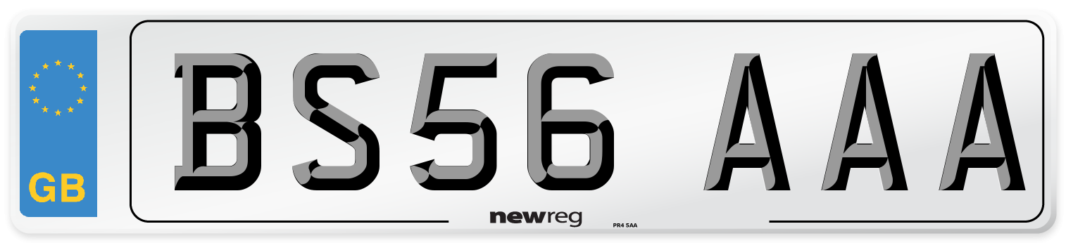 BS56 AAA Number Plate from New Reg