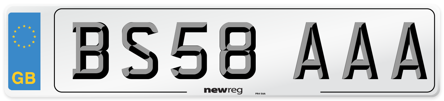 BS58 AAA Number Plate from New Reg