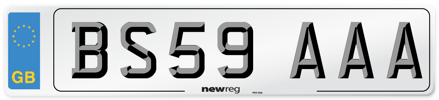 BS59 AAA Number Plate from New Reg
