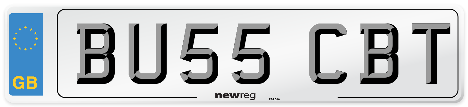 BU55 CBT Number Plate from New Reg