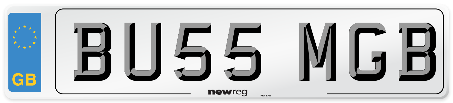 BU55 MGB Number Plate from New Reg
