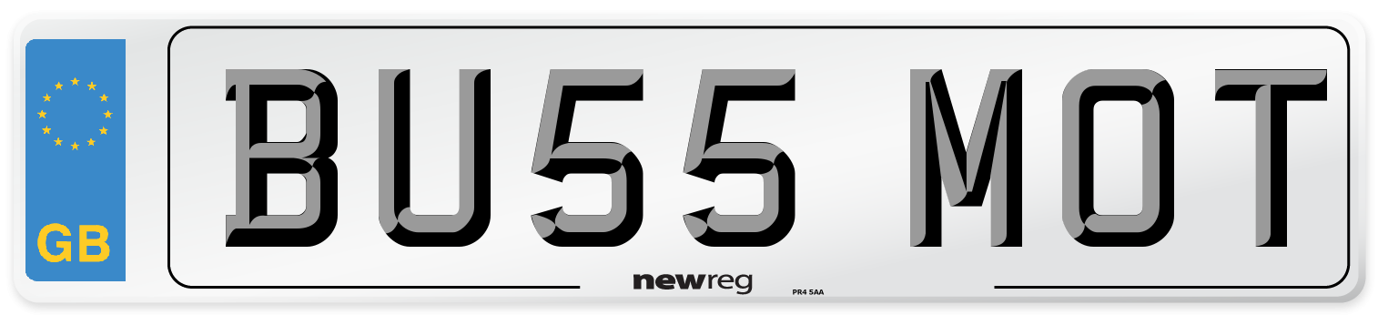 BU55 MOT Number Plate from New Reg