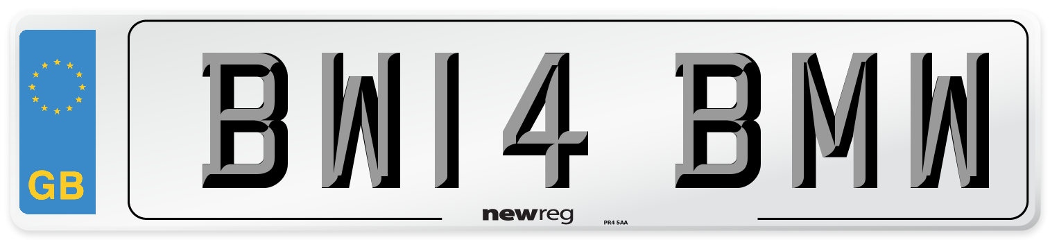 BW14 BMW Number Plate from New Reg
