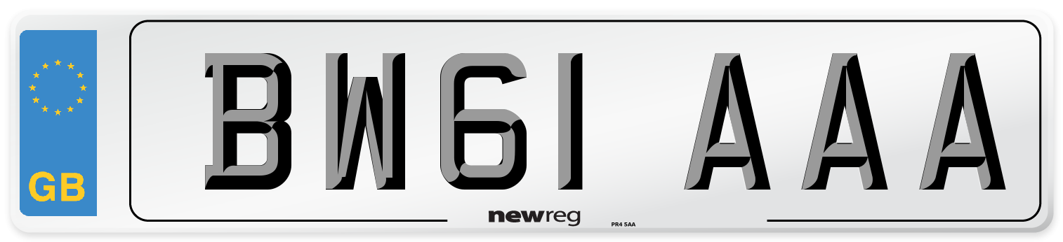 BW61 AAA Number Plate from New Reg