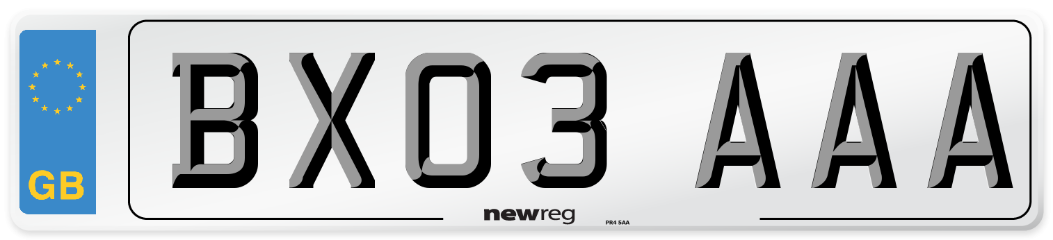 BX03 AAA Number Plate from New Reg