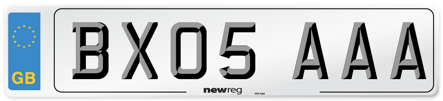 BX05 AAA Number Plate from New Reg