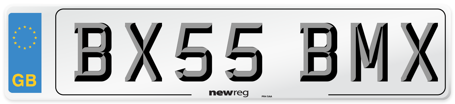 BX55 BMX Number Plate from New Reg