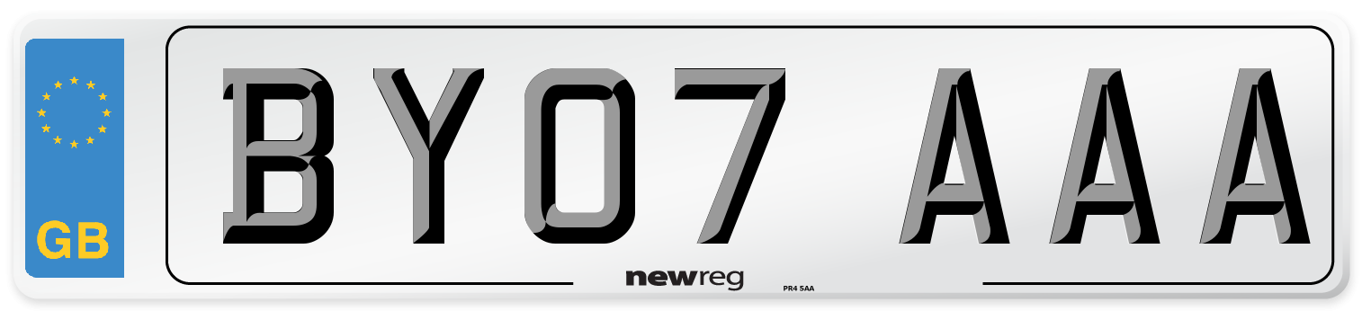 BY07 AAA Number Plate from New Reg