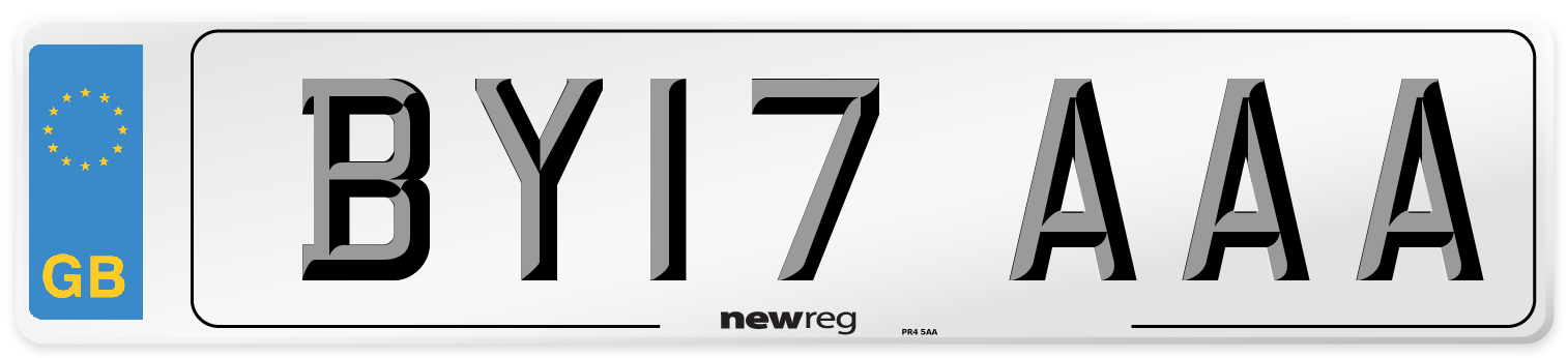 BY17 AAA Number Plate from New Reg