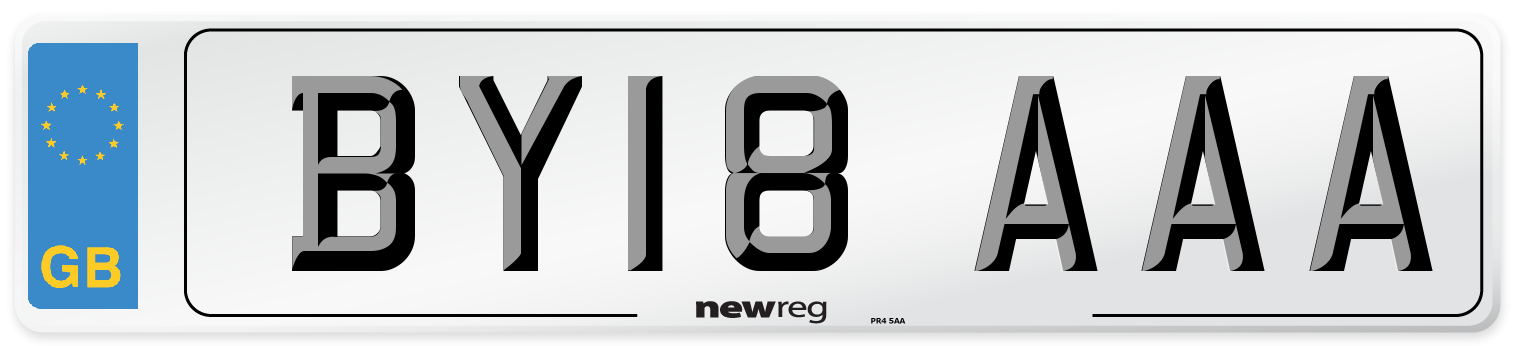 BY18 AAA Number Plate from New Reg