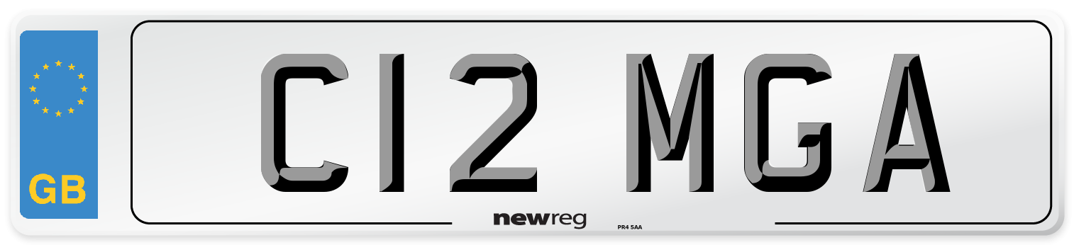 C12 MGA Number Plate from New Reg