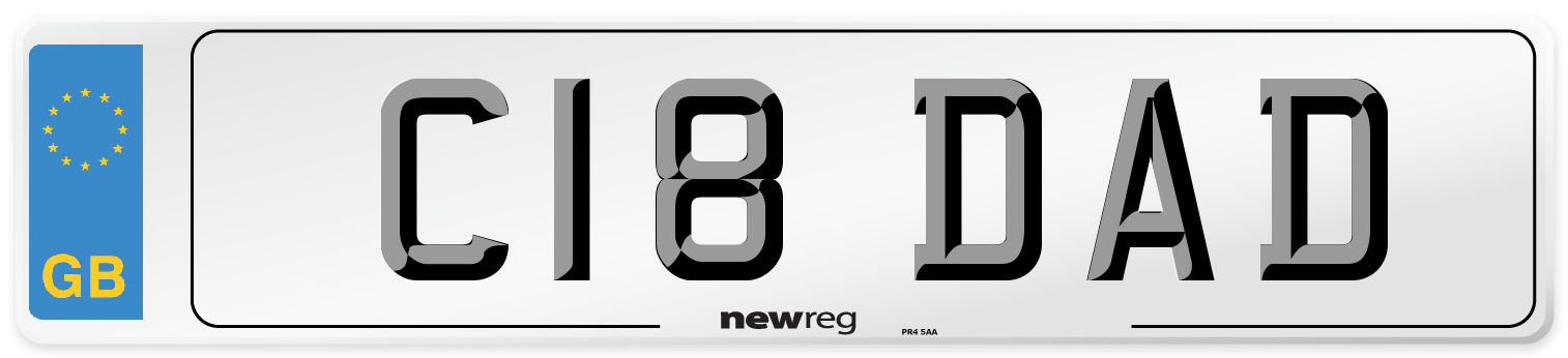 C18 DAD Number Plate from New Reg