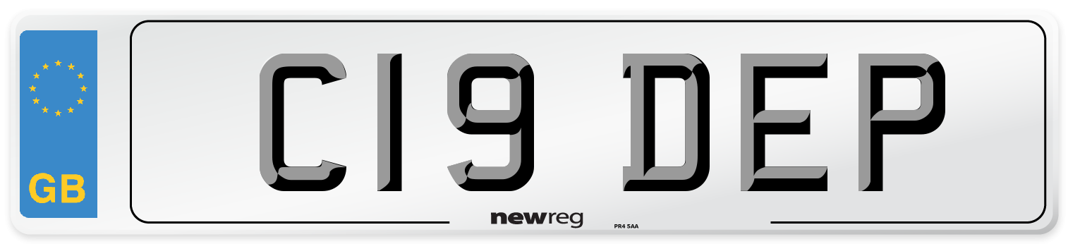 C19 DEP Number Plate from New Reg