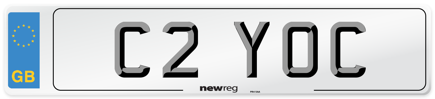 C2 YOC Number Plate from New Reg
