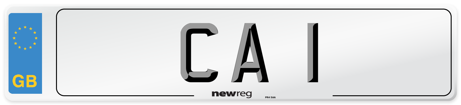 CA 1 Number Plate from New Reg