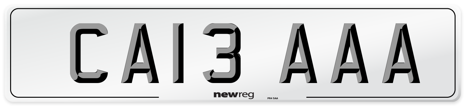 CA13 AAA Number Plate from New Reg