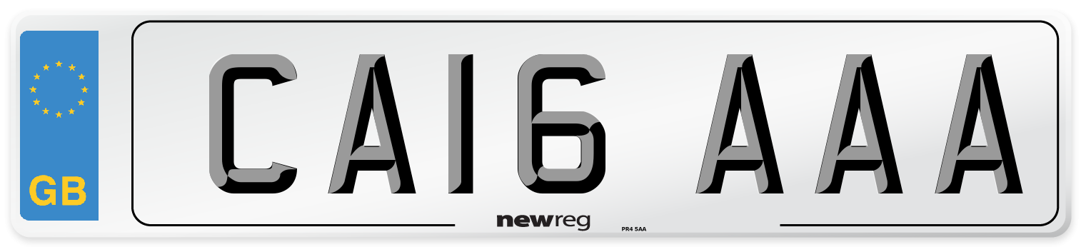 CA16 AAA Number Plate from New Reg