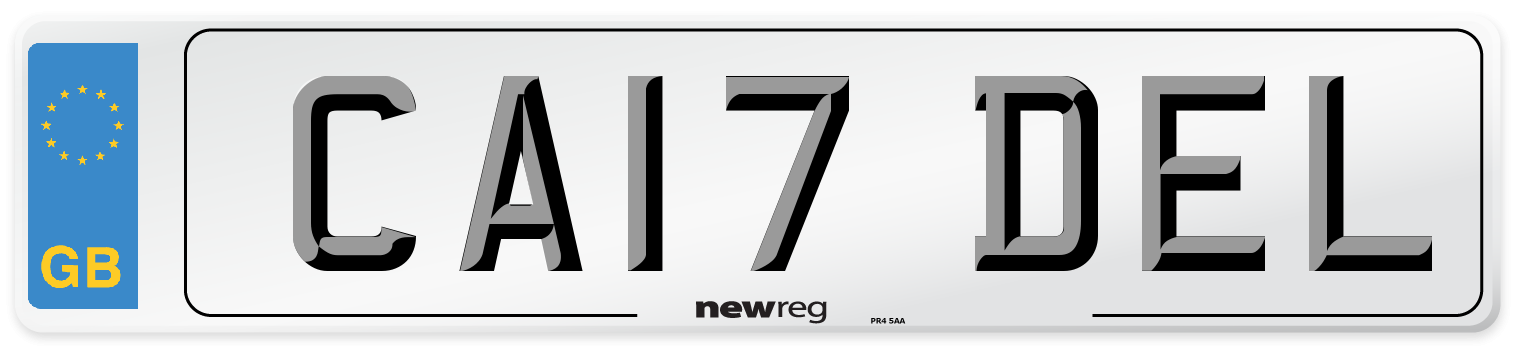 CA17 DEL Number Plate from New Reg