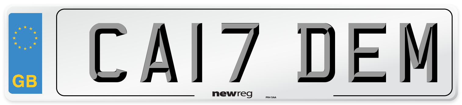 CA17 DEM Number Plate from New Reg