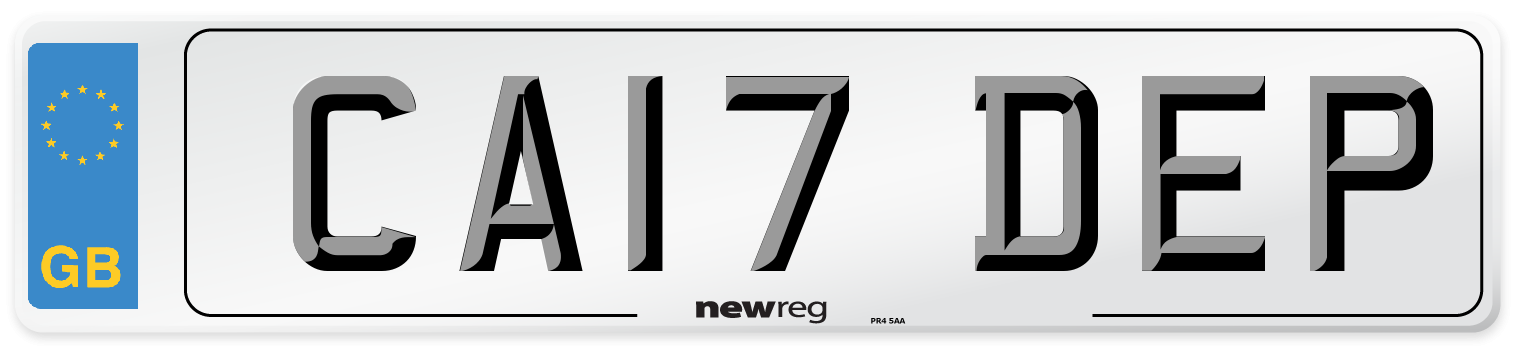 CA17 DEP Number Plate from New Reg