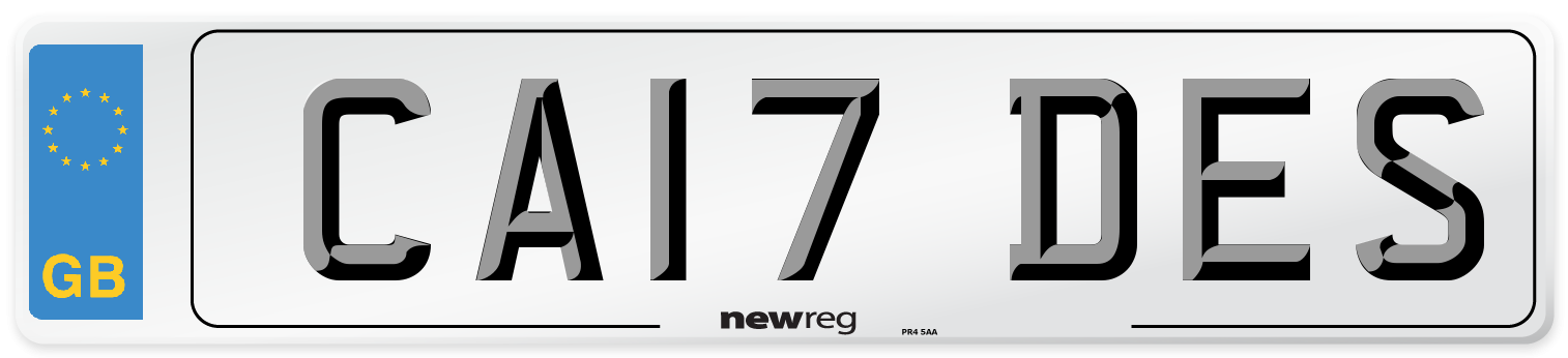 CA17 DES Number Plate from New Reg