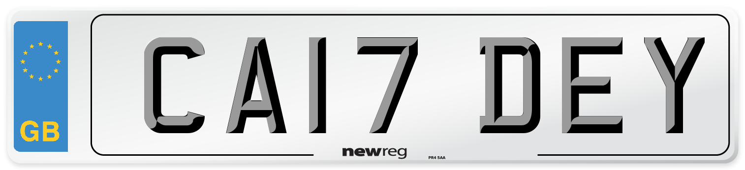 CA17 DEY Number Plate from New Reg