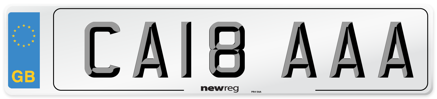 CA18 AAA Number Plate from New Reg