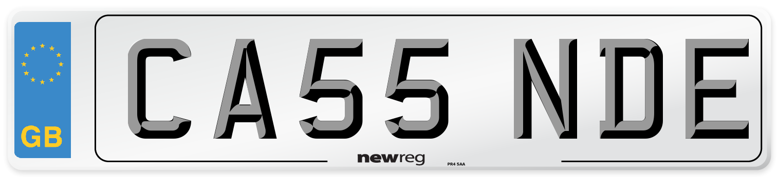 CA55 NDE Number Plate from New Reg