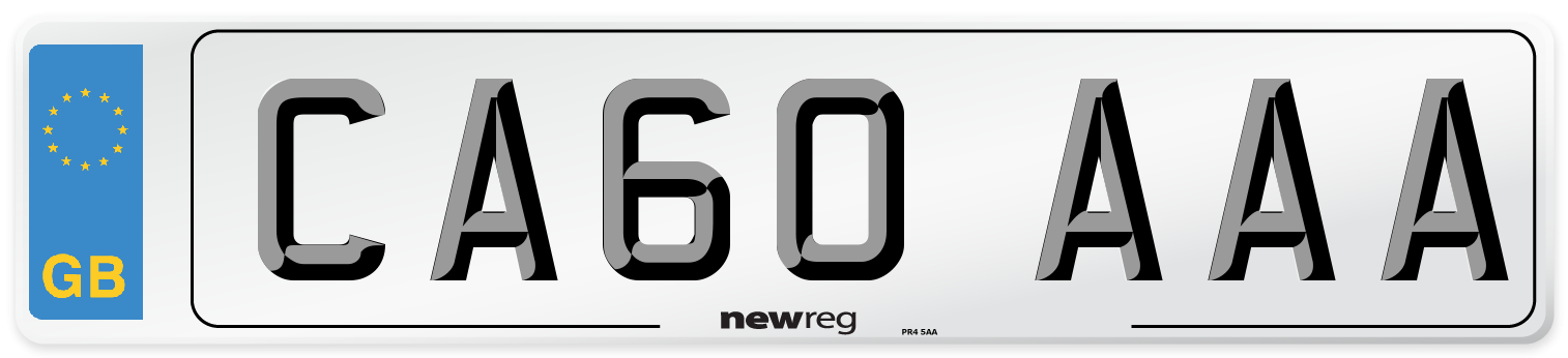 CA60 AAA Number Plate from New Reg