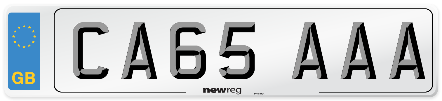 CA65 AAA Number Plate from New Reg