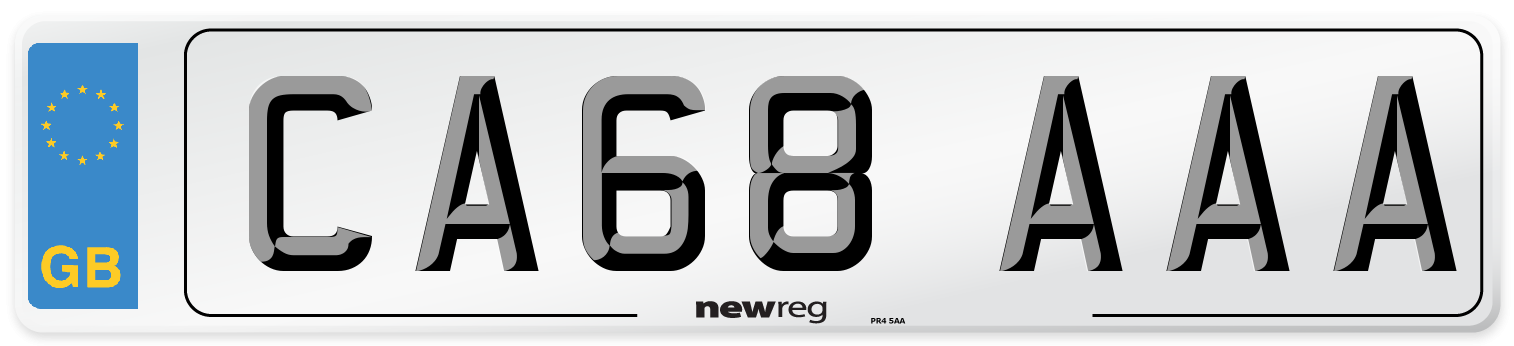 CA68 AAA Number Plate from New Reg