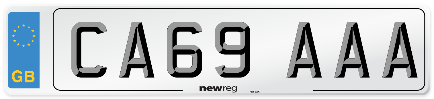 CA69 AAA Number Plate from New Reg