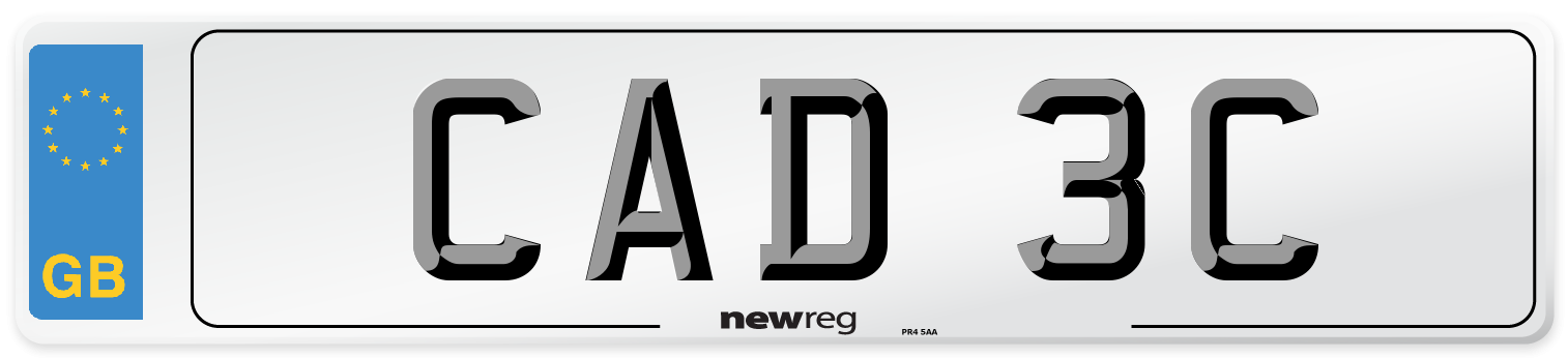 CAD 3C Number Plate from New Reg