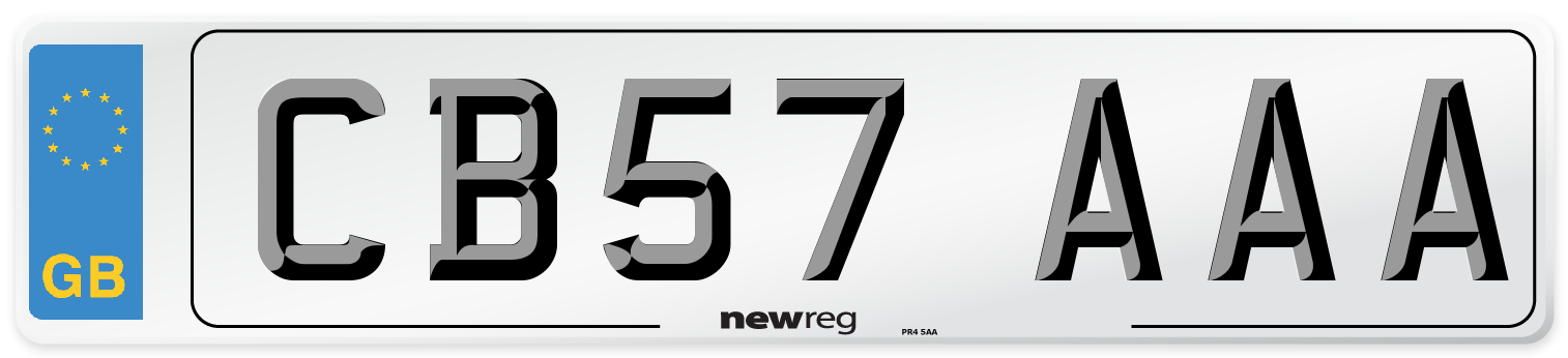 CB57 AAA Number Plate from New Reg