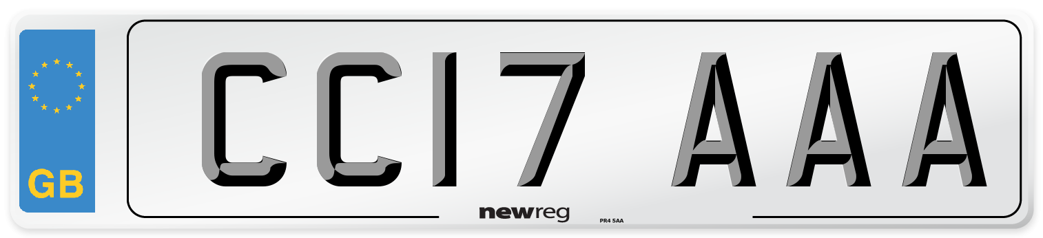 CC17 AAA Number Plate from New Reg