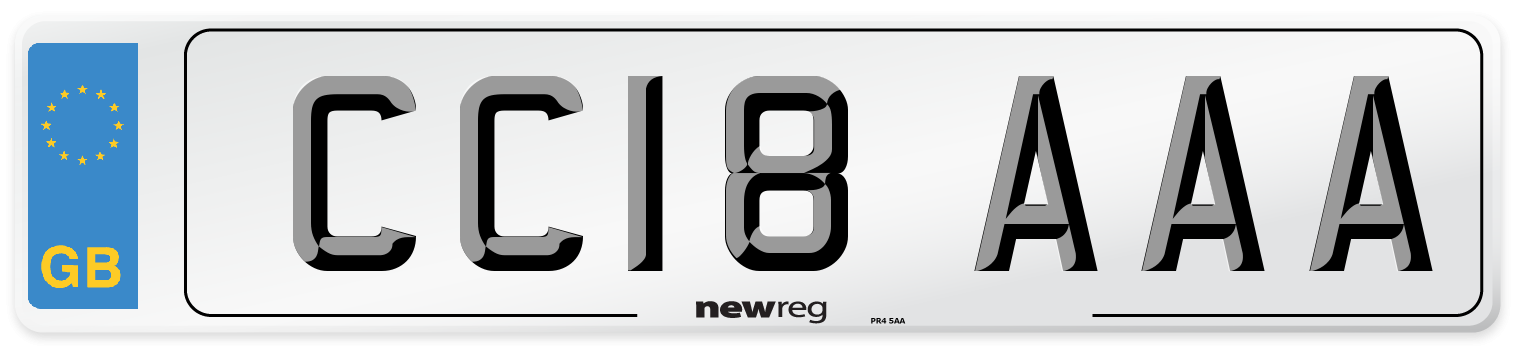 CC18 AAA Number Plate from New Reg