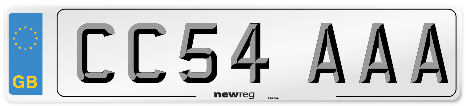 CC54 AAA Number Plate from New Reg