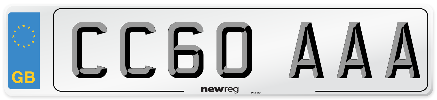 CC60 AAA Number Plate from New Reg