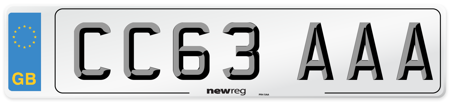 CC63 AAA Number Plate from New Reg