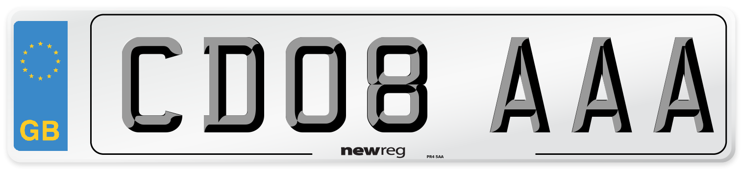 CD08 AAA Number Plate from New Reg
