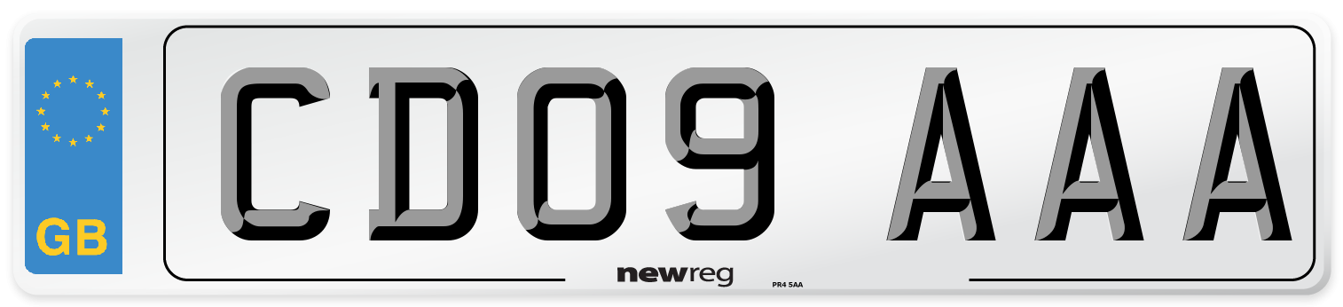 CD09 AAA Number Plate from New Reg