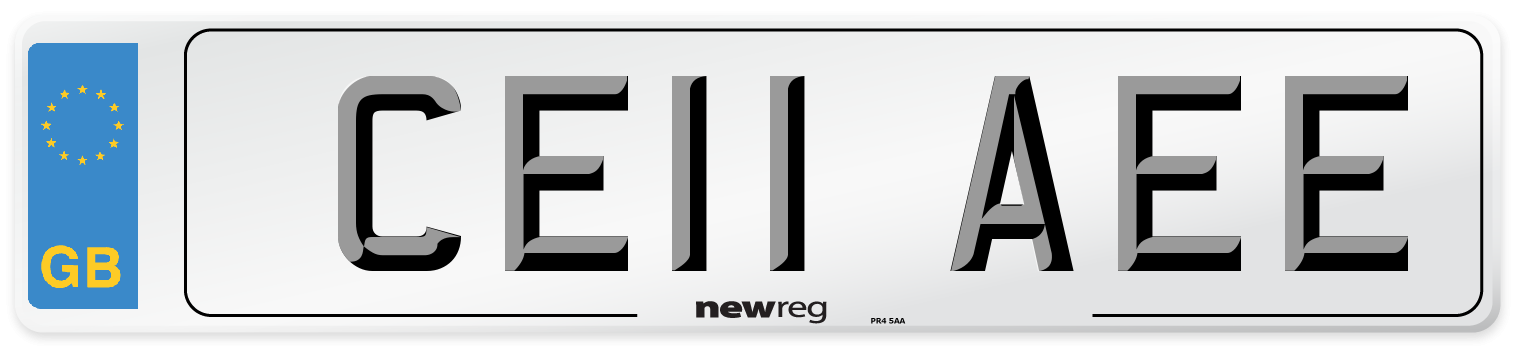 CE11 AEE Number Plate from New Reg
