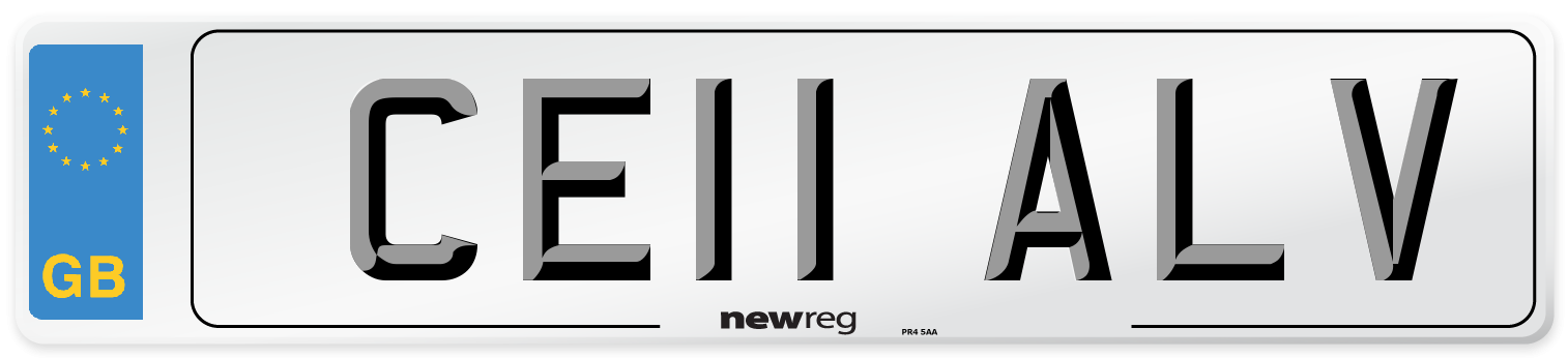 CE11 ALV Number Plate from New Reg