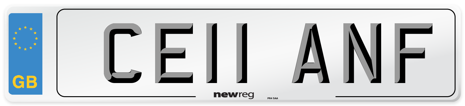 CE11 ANF Number Plate from New Reg