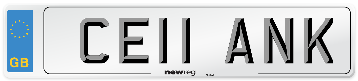 CE11 ANK Number Plate from New Reg