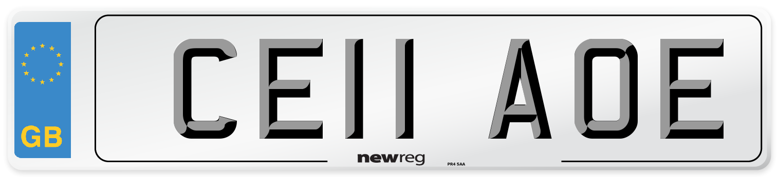CE11 AOE Number Plate from New Reg