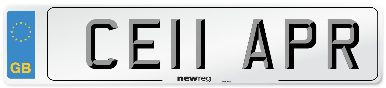 CE11 APR Number Plate from New Reg