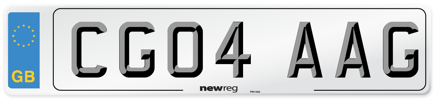CG04 AAG Number Plate from New Reg