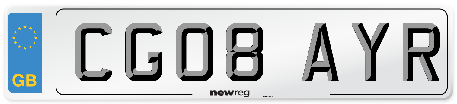 CG08 AYR Number Plate from New Reg