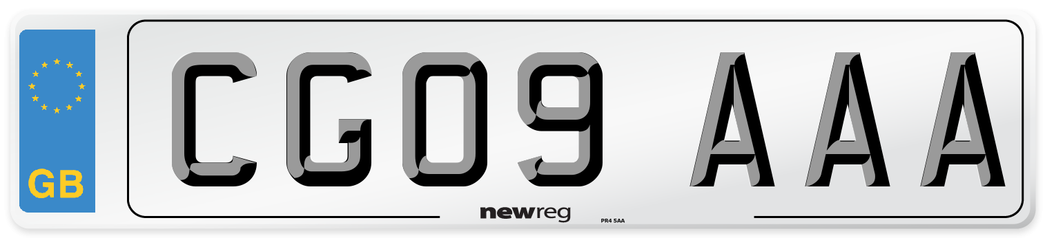 CG09 AAA Number Plate from New Reg